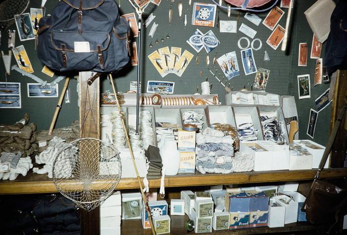 орговля рыболовными и охотничьими товарами в СССР. Фото 50-х годов.