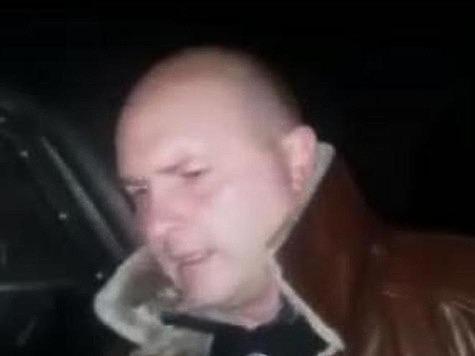 Начальник РОВД по Троснянскому району Иван Летуновский во время задержания